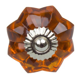 GlideRite 1.75-inch Vintage Glass Flower Amber Cabinet Knob (Pack of 10 or 25)