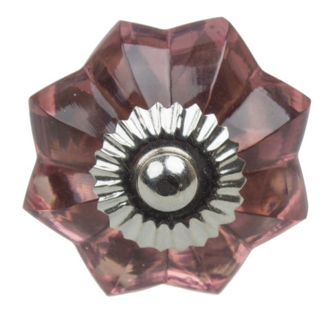 GlideRite 1.75-inch Vintage Glass Flower Purple Cabinet Knob (Pack of 10 or 25)