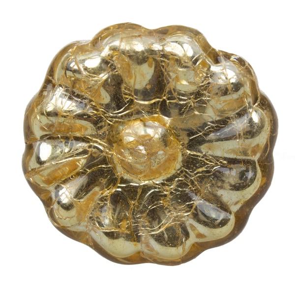 GlideRite 1.625-inch Gold Mercury Round Glass Cabinet Knob (Pack of 10 or 25)
