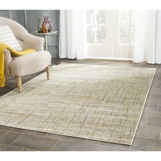 Safavieh Porcello Modern Abstract Grey/ Gold Rug (6'7 Square)