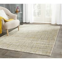 """Safavieh Porcello Modern Abstract Grey/ Gold Rug - 6'7"""" x 6'7"""" square"""