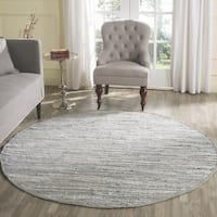 Safavieh Hand-Woven Rag Rug Grey Cotton Rug - 8' x 8' Round