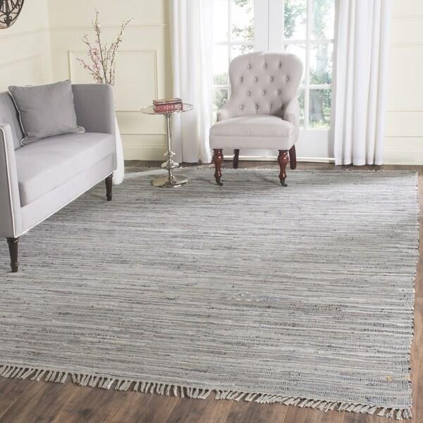 Safavieh Handwoven Rag Rug Grey Cotton Rug - 8' x 8' Square