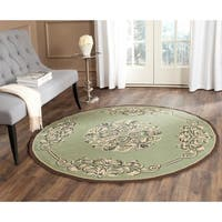 Safavieh Hand-hooked Easy to Care Sage/ Multi Rug - 8' x 8' Round