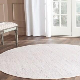 Hand-Woven Safavieh Ivory/ Multi Cotton Rag Rug (8' Round)