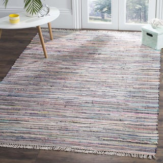 Safavieh Hand-Woven Rag Rug Grey/ Multi Cotton Rug - 4' Square