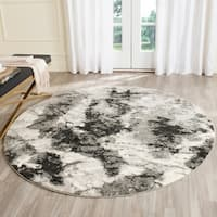 Safavieh Retro Modern Abstract Cream/ Grey Distressed Rug - 6' x 6' Round