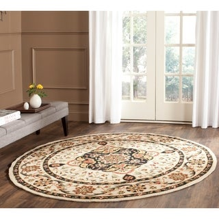 Safavieh Hand-hooked Easy to Care Cream/ Olive Rug (6' Round)