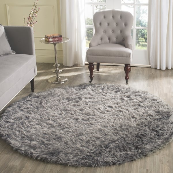 Shop Safavieh Handmade Faux Sheepskin Grey Japanese