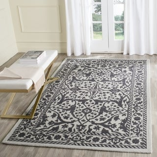 Safavieh Handmade Restoration Vintage Silver/ Grey Wool Rug (6' Square)