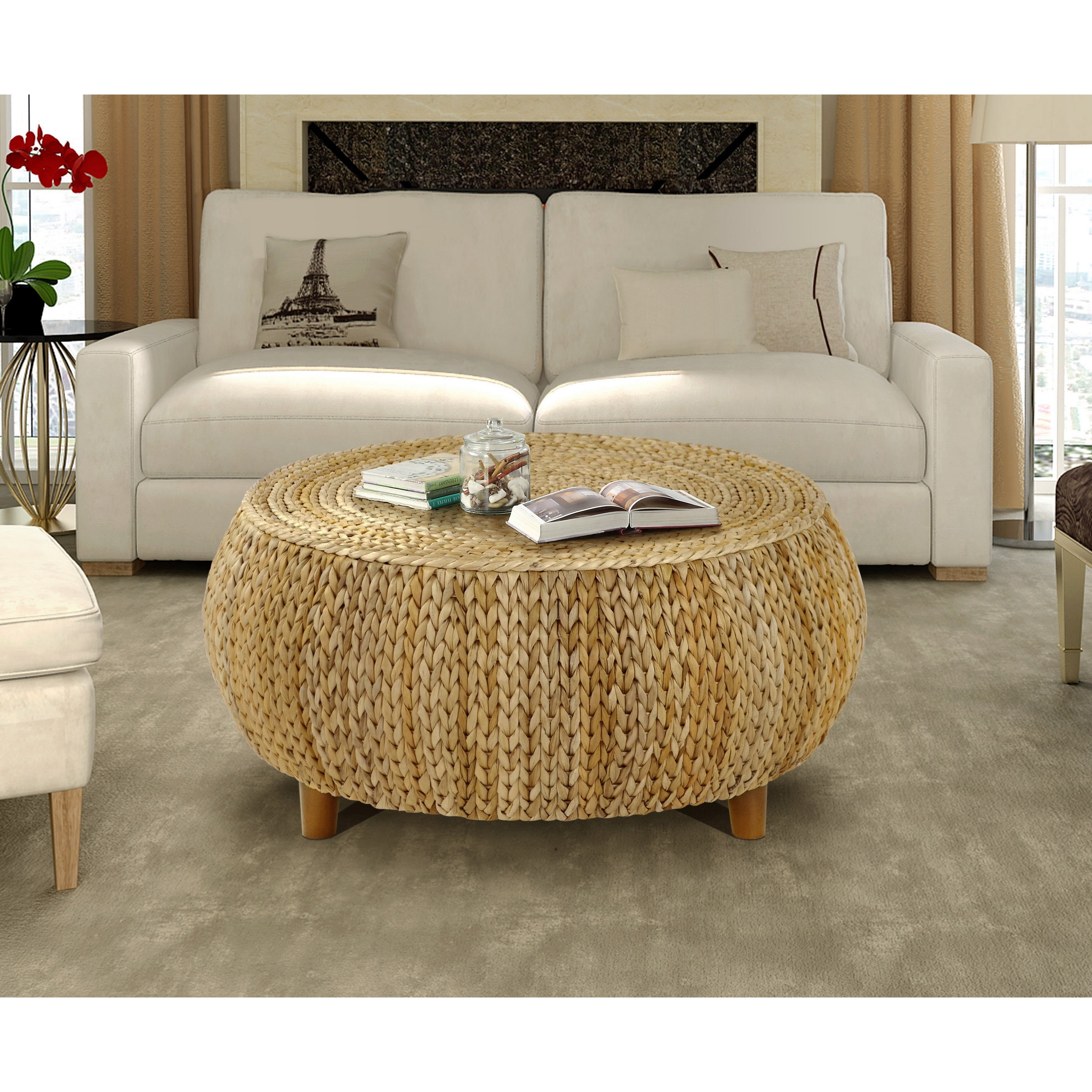 shop gallerie decor bali breeze low round coffee table