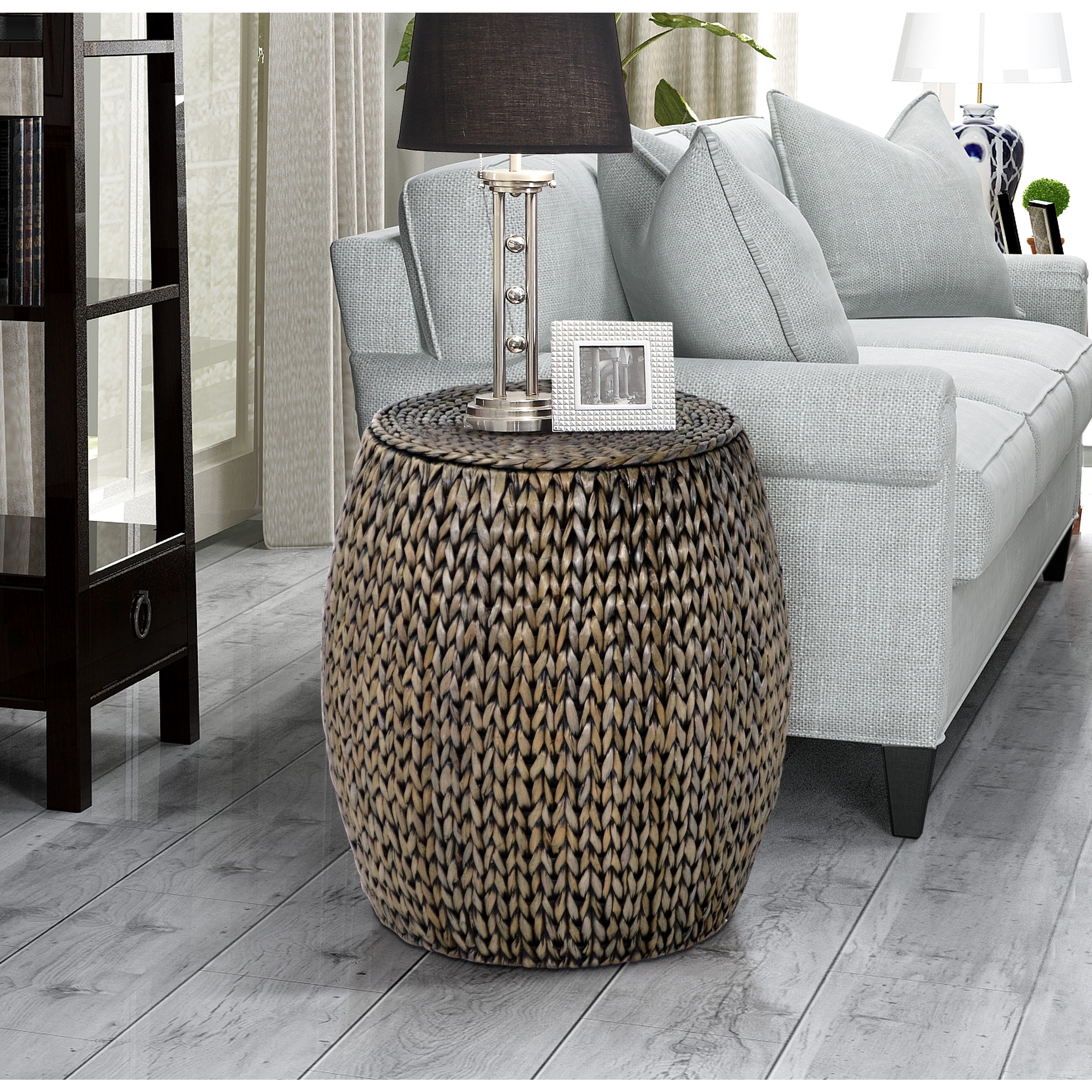 - Shop Gallerie Decor Tall Drum Accent Table - On Sale - Overstock