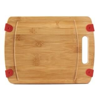 Culinary Edge by Kalorik Premium Bamboo NonSlip Bamboo Cutting Board 16'' x 12'' x .7''