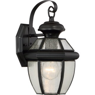 Quoize Newbury with Seedy Glass Medium Wall Lantern