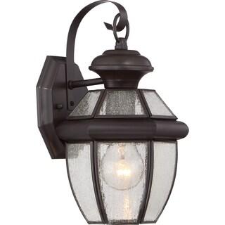 Quoizel Newbury with Seedy Glass Medium Wall Lantern