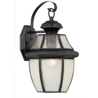 Quoizel Newbury with Seedy Glass Large Wall Lantern