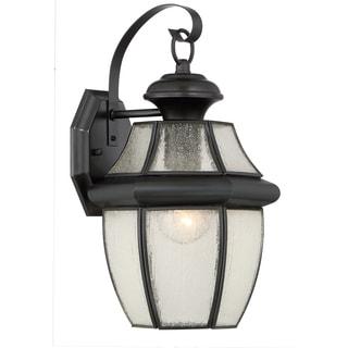 Quoize Newbury with Seedy Glass Large Wall Lantern