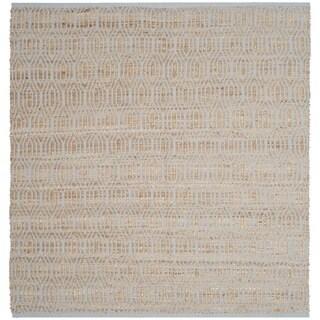 Safavieh Cape Cod Handmade Silver / Natural Jute Natural Fiber Rug (6' x 6' Square)