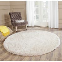 Safavieh Handmade South Beach Champagne Polyester Rug - 8' Round