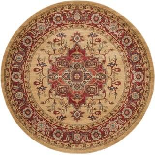 Safavieh Mahal Traditional Grandeur Red/ Natural Rug (9' Round)