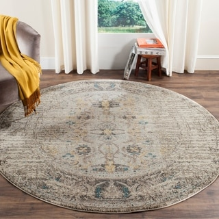 Safavieh Monaco Vintage Distressed Grey / Multi Distressed Rug (6' 7 Round)