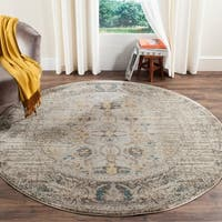 Safavieh Monaco Vintage Distressed Grey / Multi Distressed Rug - 6' 7 Round