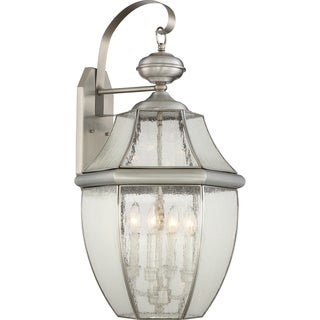 Quoizel Newbury with Seedy Glass Extra Large Wall Lantern