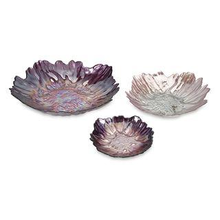Midnight Garden Glass Bowls - Set of 3
