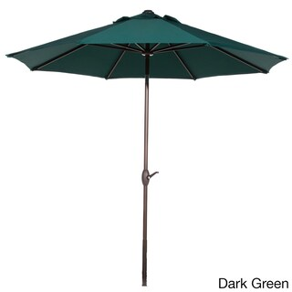 Abba 9-foot Market Aluminum Push Button Tilt and Crank Patio Umbrella