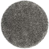 Safavieh New York Shag Dark Grey Rug - 8' x 8' Round