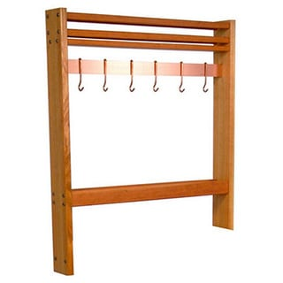 John Boos RN-POTR36 Cherry Pro Prep Pot Rack, 30 Wide (Comes with 4 Hooks)