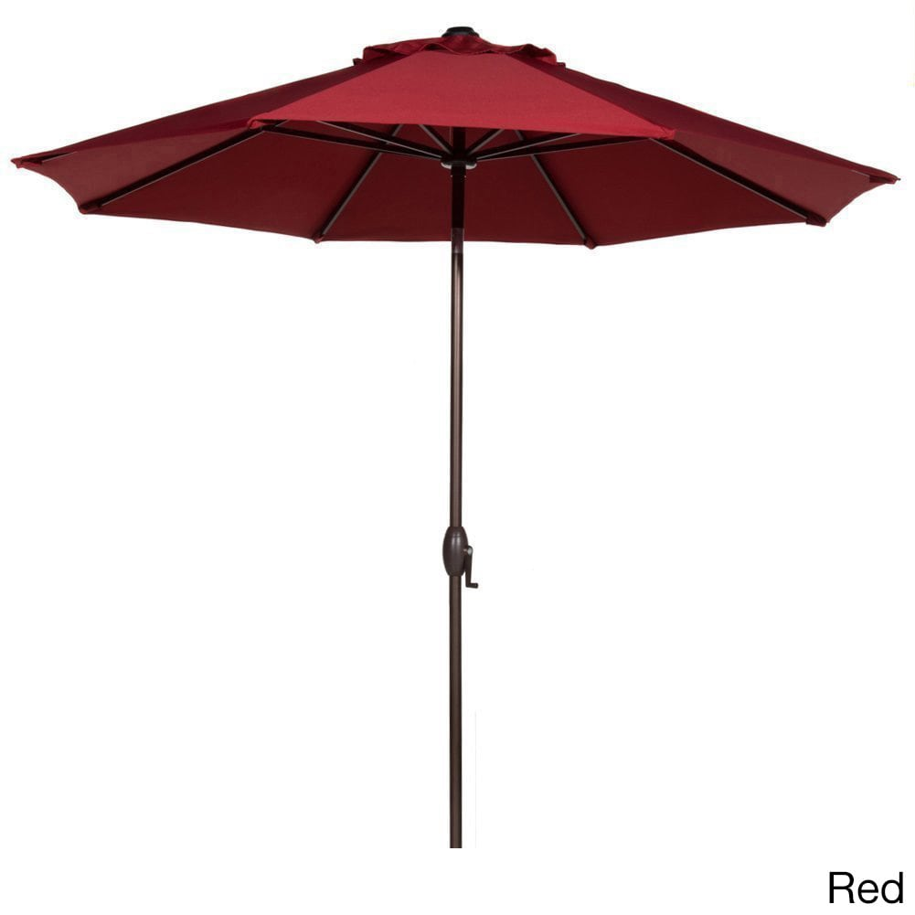 Gentil Abba 9 Foot Market Aluminum Push Button Tilt And Crank Patio Umbrella  (Option: