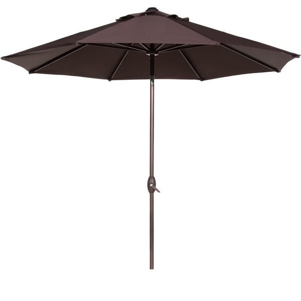 Abba 9 foot auto tilt and crank aluminum patio umbrella for Patio table umbrella 6 foot