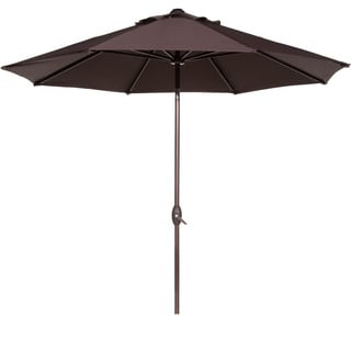 Abba Aluminum 9 Foot Patio Umbrella with Auto Tilt and Crank