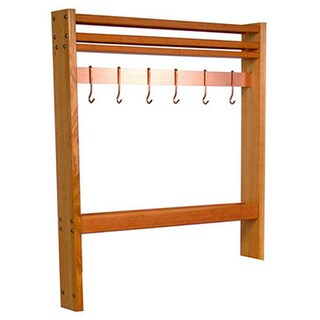 John Boos Cherry Pro Prep Pot Rack, 24 Inches Wide (Comes with 4 Hooks)