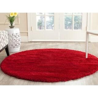 Safavieh Milan Shag Red Rug (7' Round)