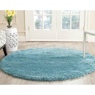 Safavieh Milan Shag Aqua Blue Rug (3' Round)