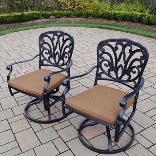 Sunbrella Aluminum Outdoor Patio Swivel Rockers (Set of 2)