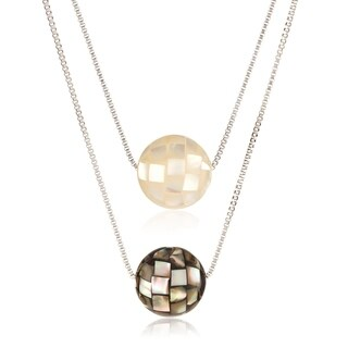 ELYA Stainless Steel Mosaic Bead Necklace