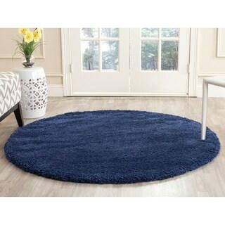 Safavieh Milan Shag Navy Blue Rug (3' Round)
