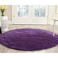 Safavieh Milan Shag Purple Rug - 3' x 3' Round