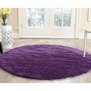 Safavieh Milan Shag Purple Rug (3' Round)