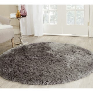 Safavieh Handmade Arctic Shag Grey Polyester Rug (7' Round)