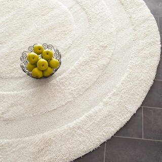 Safavieh Shadow Box Ultimate Cream Shag Rug (5' Round)