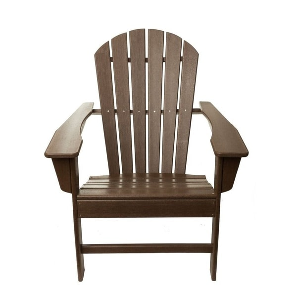 TIAB Brown Finish Polypropelene Folding Adirondack Chair