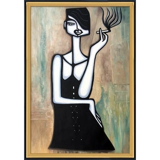 Elwira Pioro 'Bad Habits' Hand Painted Framed Canvas Art