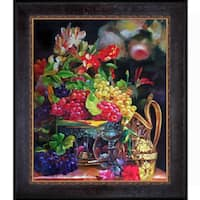 Celito Medeiros 'Still Life' Hand Painted Framed Canvas Art