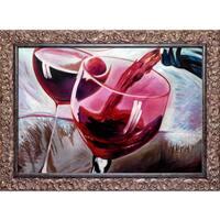Michael Hitt 'That's a Good Cab' Hand Painted Framed Canvas Art
