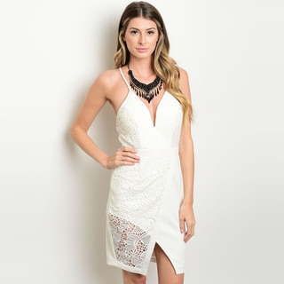 Shop the Trends Women's Spaghetti Strap Lace Dress