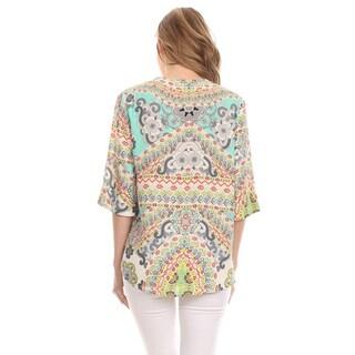 MOA Collection Women's Multi-Color Ornate Top